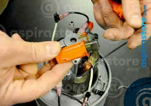 Usura spazzole motore aspirapolvere centralizzato