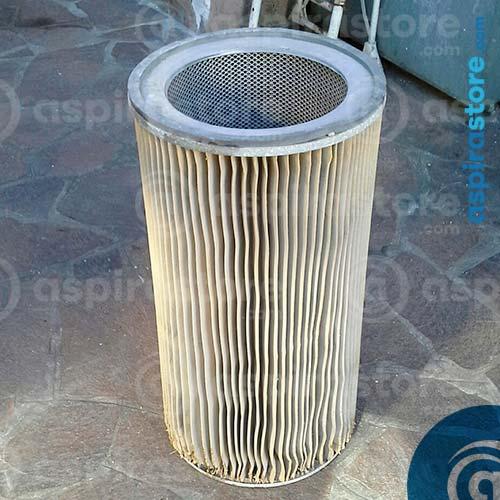 Pulizia filtro cartuccia poliestere aspirapolvere centralizzato