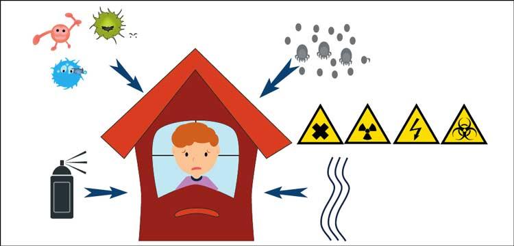 I pericoli derivanti dalla sindrome da edifico malato, aggravata da condizioni di temperatura e umidità non ideali