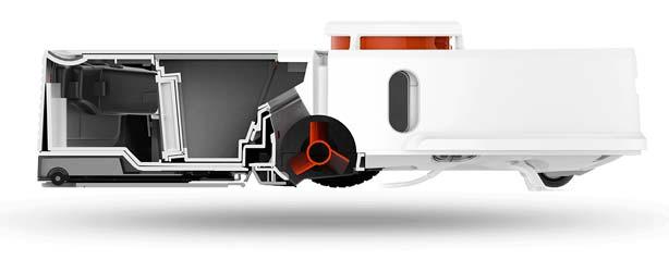 Sezione di un robot aspirapolvere
