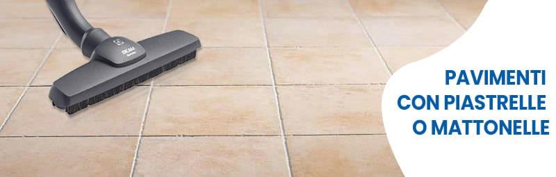 spazzola con aspirapolvere centralizzato per pavimenti