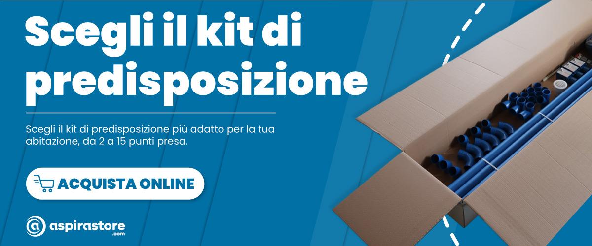 Acquista online su Aspirastore.com il kit predisposizione impianto aspirapolvere centralizzato al miglior prezzo
