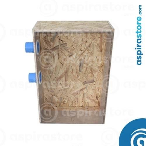 Cassa in legno OSB predisposizione centrale da incasso Shadow180