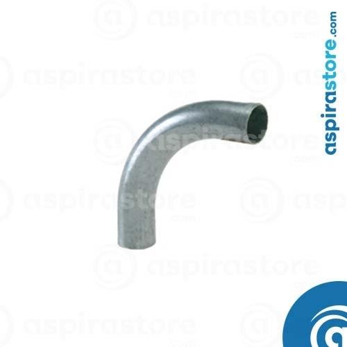 Curva 90° in acciaio zincato Ø50