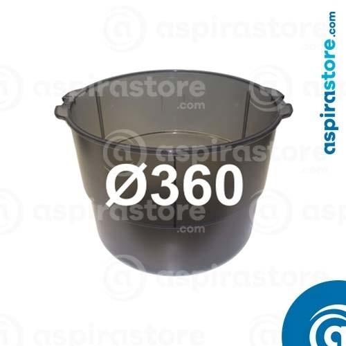 Contenitore polveri Ø360 centrali aspiranti Beam Electrolux SC398 SC3500