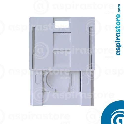 Presa aspirante per Ave Sistema 44 Touch bianco con placca a scivolamento
