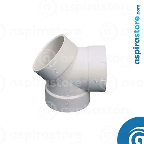 Derivazione PVC bianco Ø51 FFF 45+90°