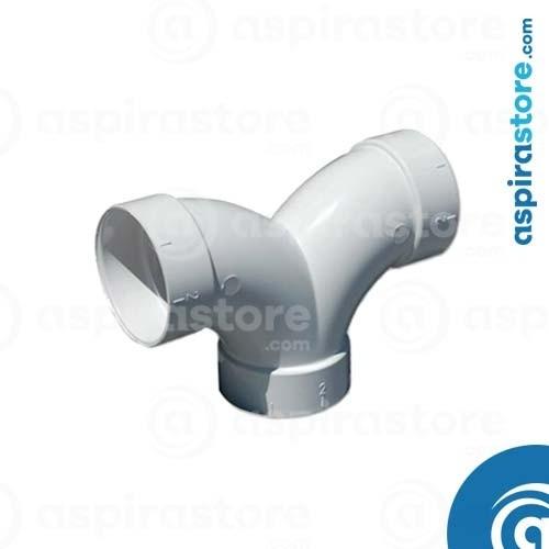 Derivazione PVC bianco Ø51 FF 90° a doppia coda