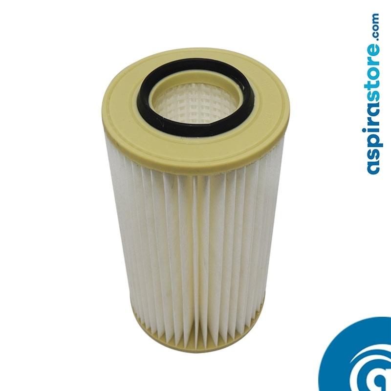 Filtro cartuccia in poliestere lavabile 34X18 Ø8 per aspirapolvere centralizzato aertecnica