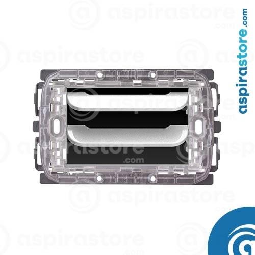 Griglia vmc Disappair 503 per Bticino Light bianco lucido