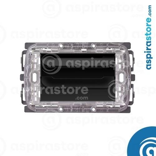 Griglia vmc Disappair 503 per Bticino Livinglight Tonda e Quadra nero