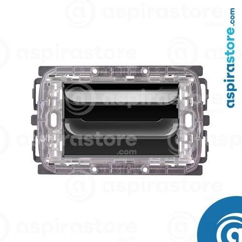Griglia vmc Disappair 503 per FEB Flat Silver lucido
