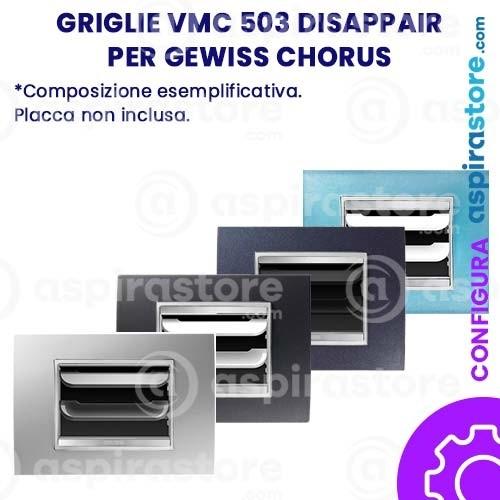 Griglia vmc Disappair 503 per Gewiss Chorus