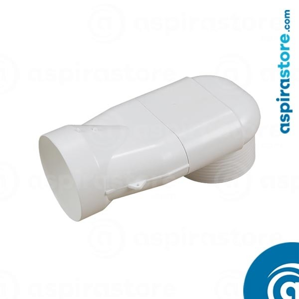 Imbocco curvo diametro 80 per bocchetta vmc Vent