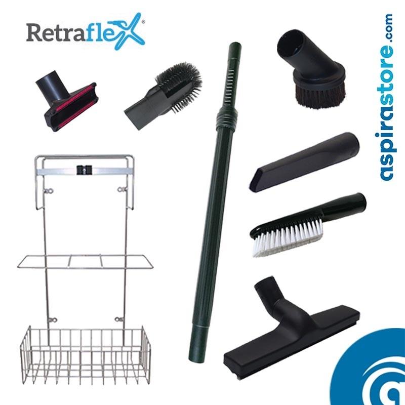 Kit accessori pulizia completo per impianto aspirazione Retraflex