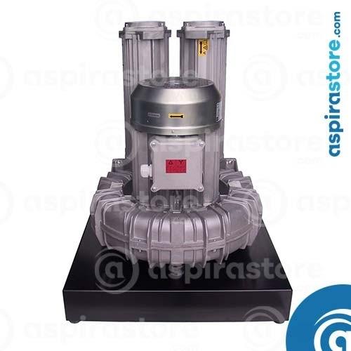 Modulo aspirante TR30M 5,5 Kw 380V per 3 operatori con basamento e quadro elettrico