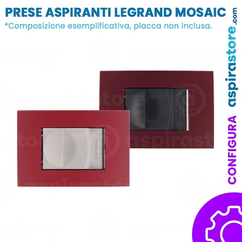 Composizione placche presa aspirante per Legrand Mosaic