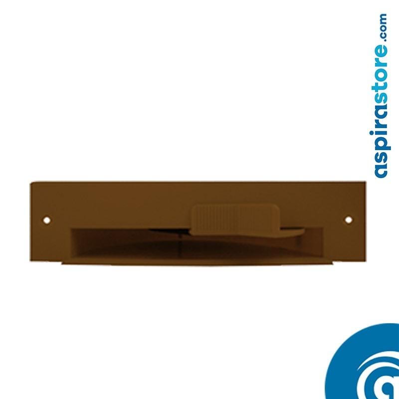Bocchetta battiscopa VacPan marrone chiaro collegamento con raccordo curvo