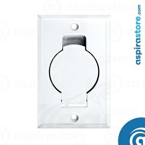 Presa aspirante Duovac monoblocco Round Door bianca Ø32