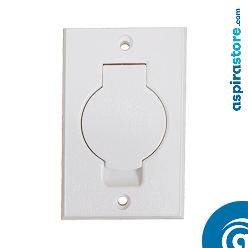 Presa aspirante Duovac monoblocco Round Door bianca Ø32 fronte