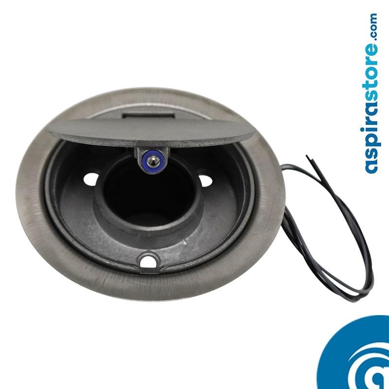 Presa aspirante Floor da pavimento in alluminio satinato Ø40 con micro-interruttore