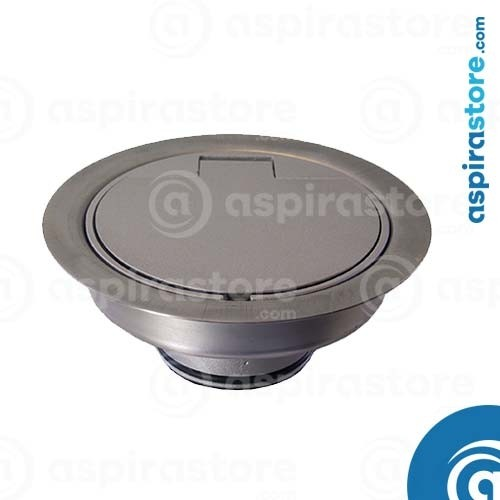 Presa Floor da pavimento in alluminio satinato senza micro diametro 32