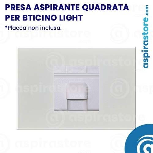 Presa aspirante quadrata per Bticino Light bianco