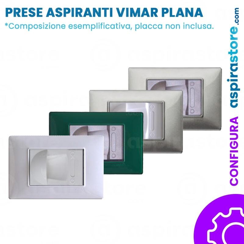 Composizione con placca presa aspirante per Vimar Plana