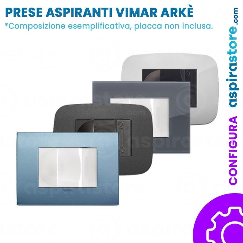 Composizione placche con presa aspirante per Vimar Arke'