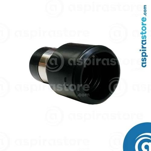 Raccordo tubo-presa girevole Ø32 con anello conduttivo nero