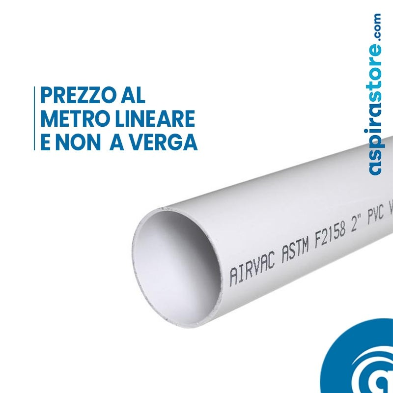 Tubo PVC Ø51 bianco per aspirazione centralizzata tubo a scomparsa prezzo
