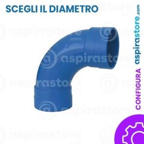 Curva PVC 90° largo raggio FF aspirazione centralizzata