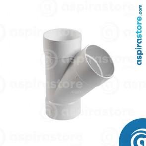 Derivazione PVC bianco Ø51 FF 45° largo raggio