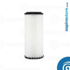 Filtro cartuccia in poliestere lavabile 34X13,5 Ø8 per aspirapolvere centralizzato aertecnica