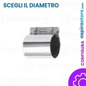 Giunto in acciaio zincato completo di manicotto in gomma e linguetta equipotenziale per impianto aspirazione
