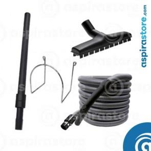 Kit accessori pulizia Ø32 MINI con tubo flessibile mt 7 asta spazzola gancio