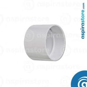 Manicotto PVC Ø51 corto con battente stop coupling aspirazione centralizzata