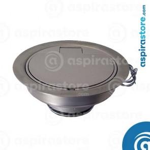 Presa Floor da pavimento in alluminio satinato con micro diametro 40