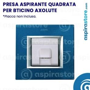 Presa aspirante quadrata per Bticino Axolute bianco