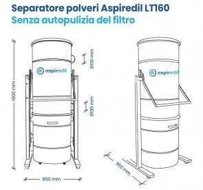 Separatore polveri LT160 senza autopulizia del filtro
