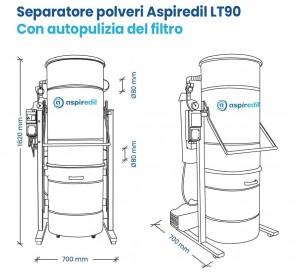 Separatore polveri Aspiredil LT160 con autopulizia del filtro
