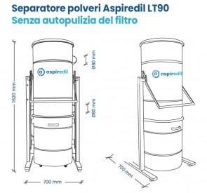 Separatore polveri Aspiredil LT90 con autopulizia del filtro