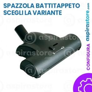 Spazzola turbo battitappeto moquette con ruote Ø32