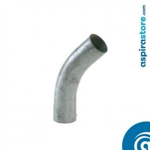 Curva 45° in acciaio zincato Ø50