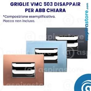 Composizione griglie vmc 503 Disappair per ABB Chiara