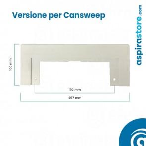 Placca cornice bianco per perimetro bocchetta Cansweep-Vacusweep