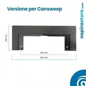 Placca cornice nero per perimetro bocchetta Cansweep-Vacusweep