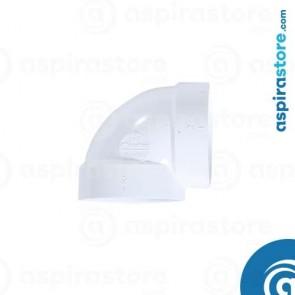 Curva PVC Ø51 FF 90° raggio stretto bianco