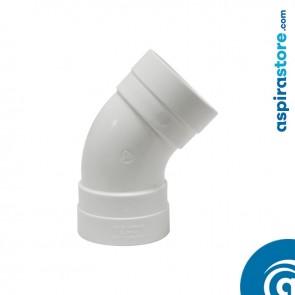 Curva PVC Ø51 45° FF bianco