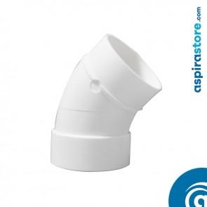 Curva PVC Ø51 45° MF bianco